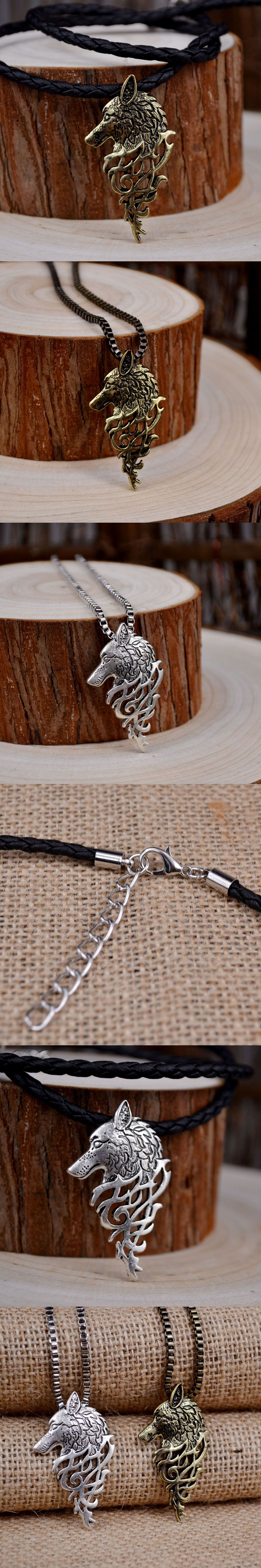 head front celts crafty dragon wolf product pendant