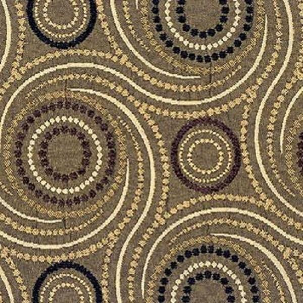 Starry Night Nugget Damask Contemporary Brown Upholstery Fabric