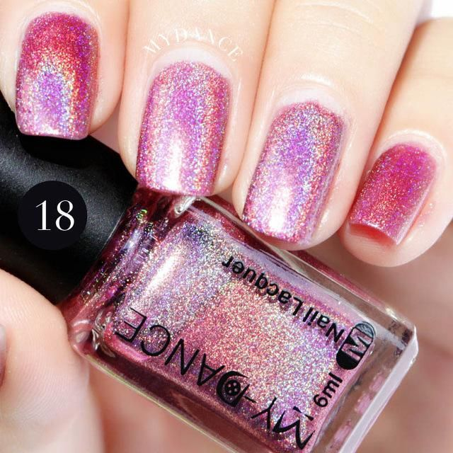 15 Varnish Art Nail Manicure 6ml Effect Hologram Polish Glitter Holo ...