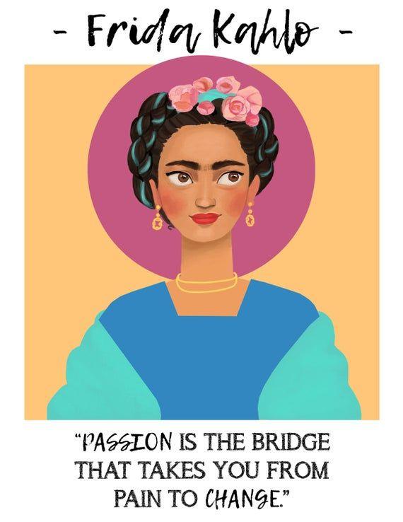 Photo of Frida Khalo MIGHTY WOMEN Art Print / Feminism Icon / Powerful Women in History / Shero / Adventure A