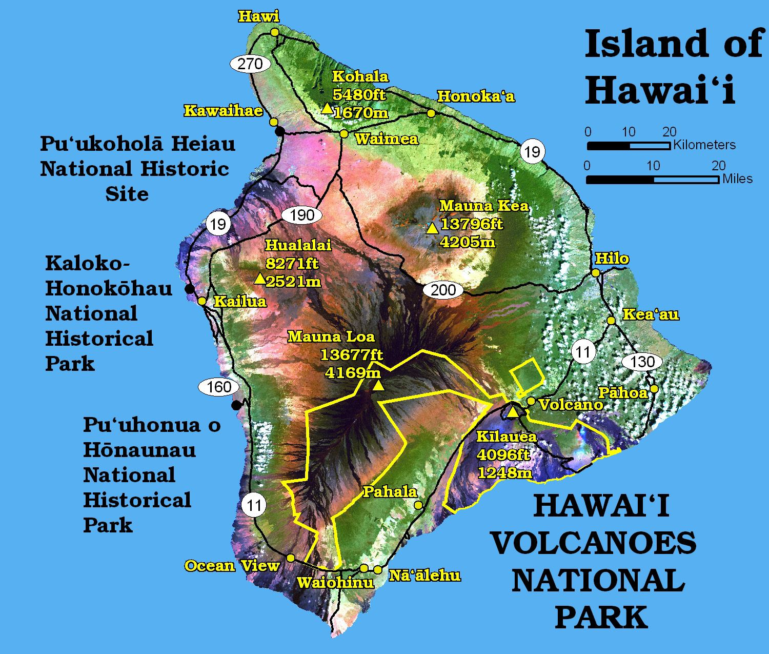 hawaii national park Volcanoes Map See map details From