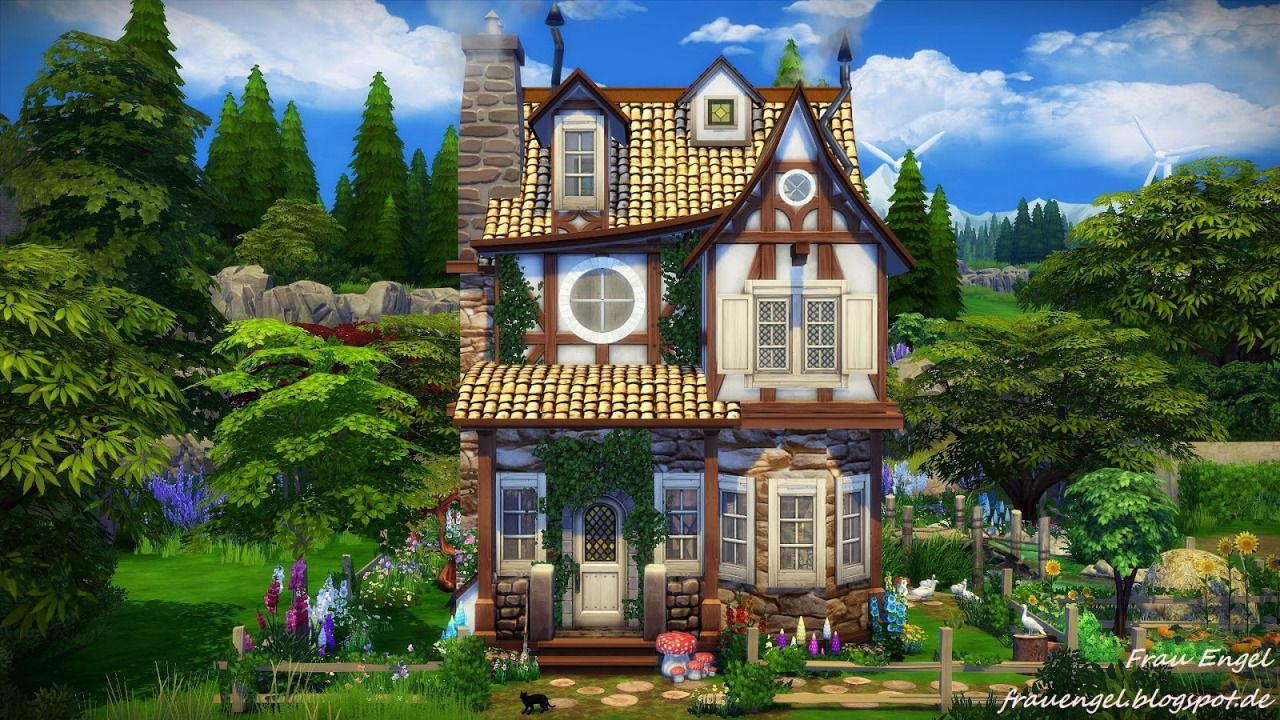 Lana cc finds witch house by frau engel ts4 lots for Classic house sims 4