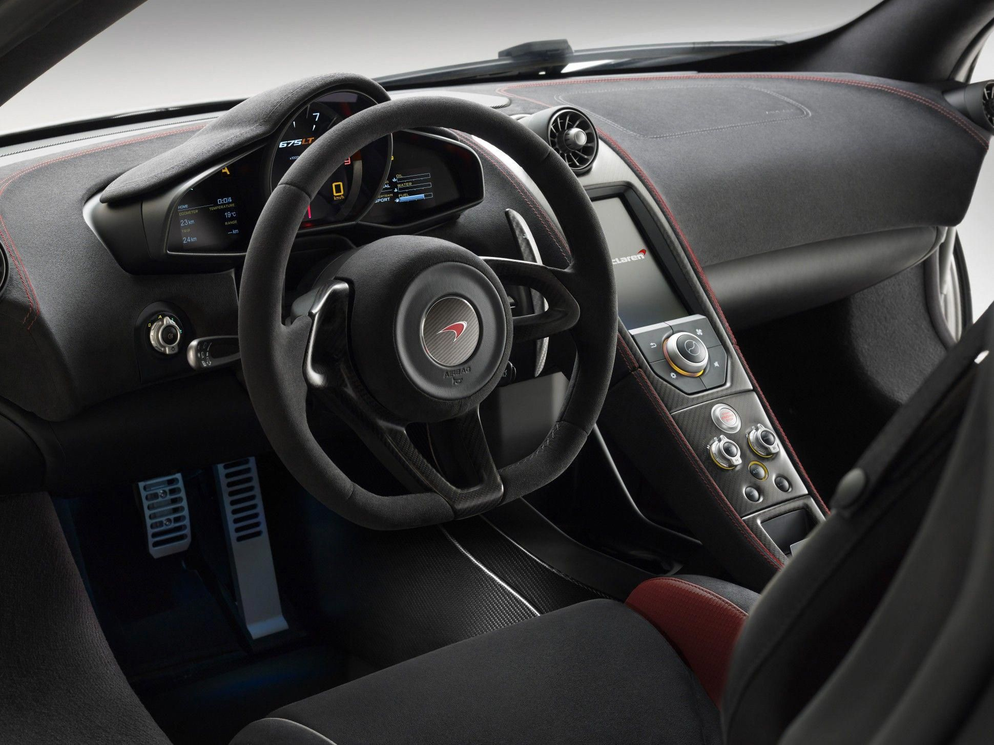 Inside Carbon Fiber Shelled Seats Modeled After Those Of The Mclaren P1 Are Upholstered In Alcantara Mclarenp1