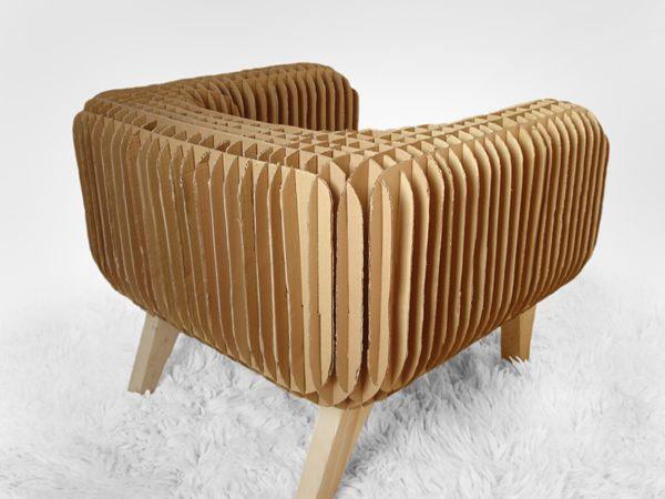 cardboard armchair m bel aus pappe pappe und papier. Black Bedroom Furniture Sets. Home Design Ideas
