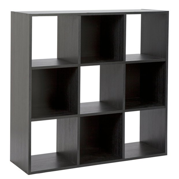 Buy Argos Home Squares 9 Cube Storage Unit Black Bookcases And