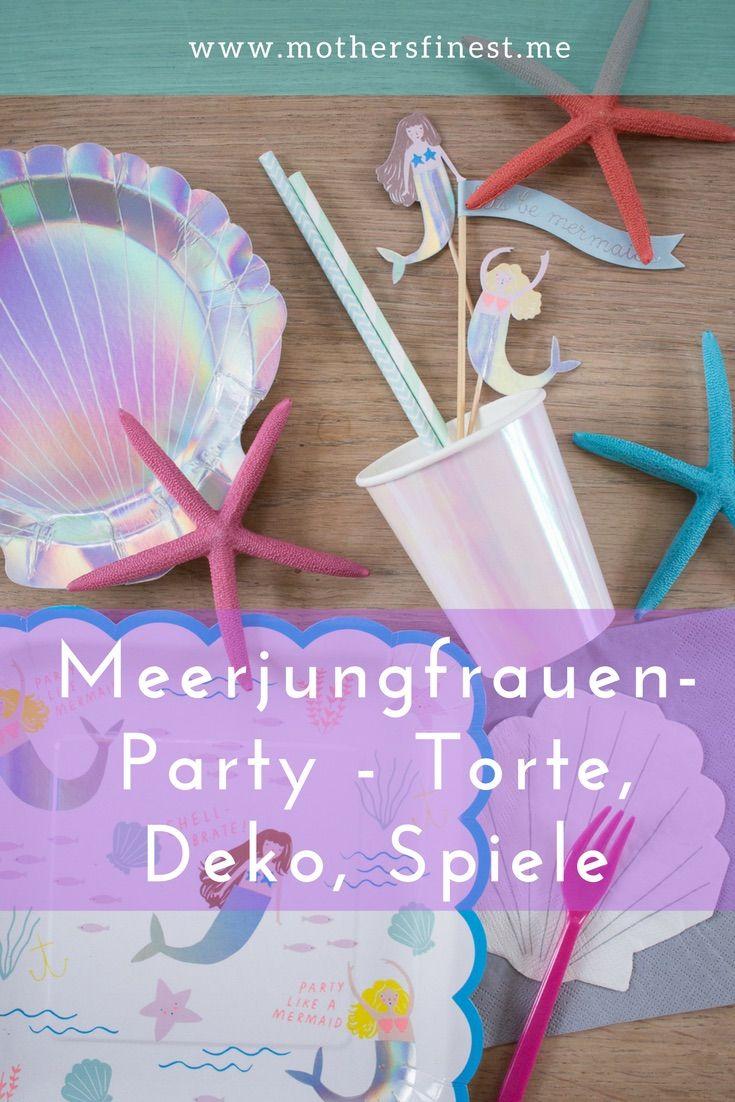 Meerjungfrauenparty Torte Dekoration Spiele Birthdayparty