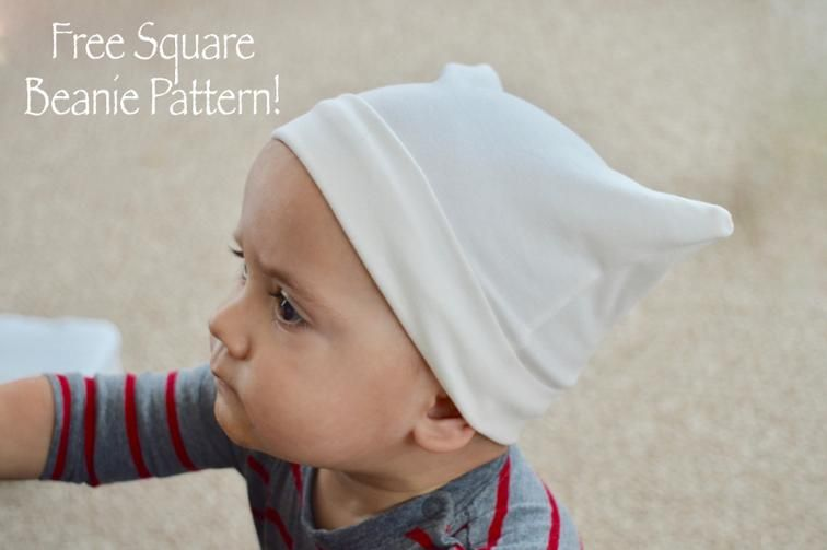 Free Sewing Pattern: Square Beanie Hat Pattern | Fabric & Sewing DIY ...