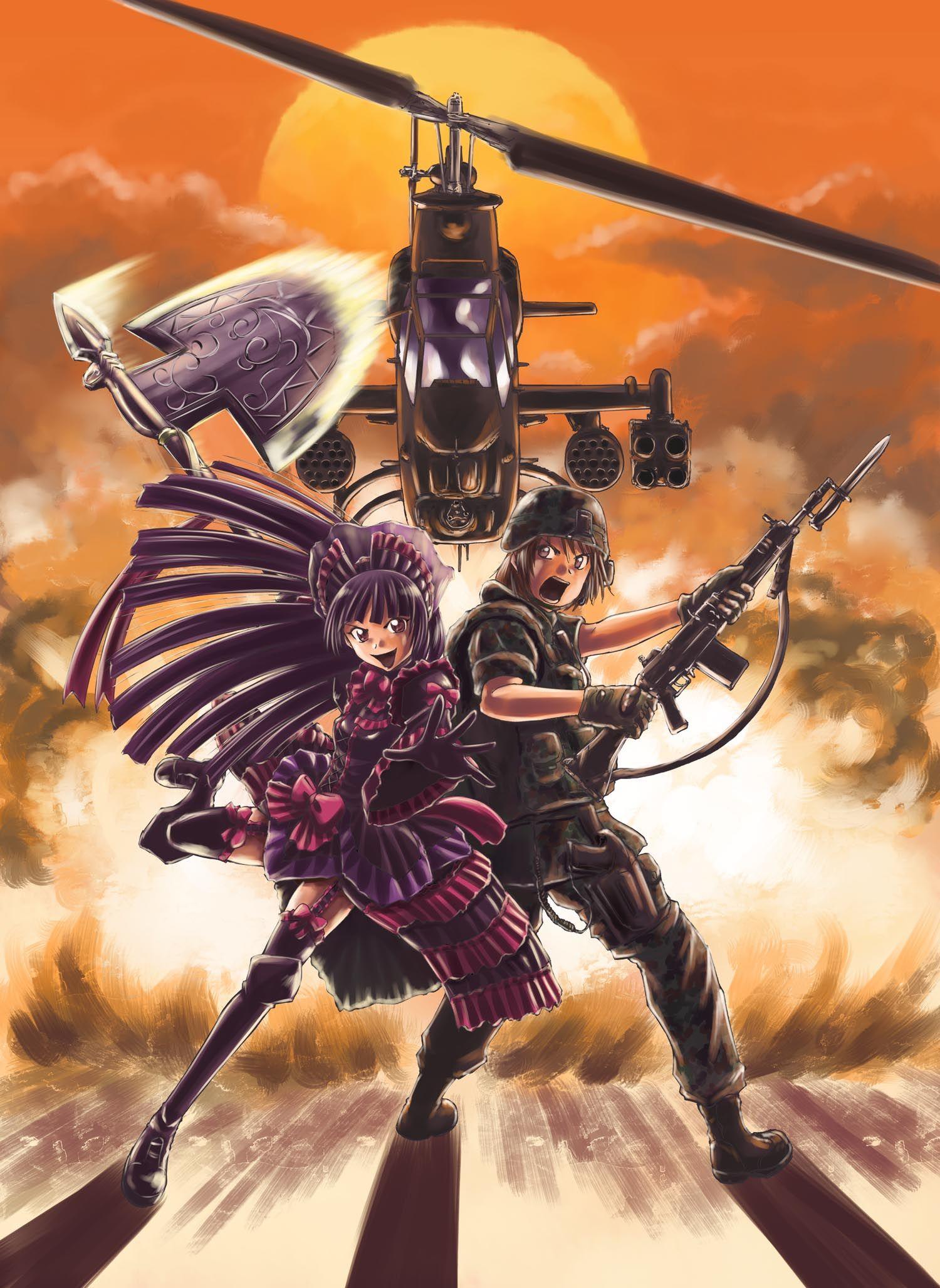 Gate Jieitai Kanochi Nite Kaku Tatakeri Kawaii Anime Anime Wallpaper Anime Military