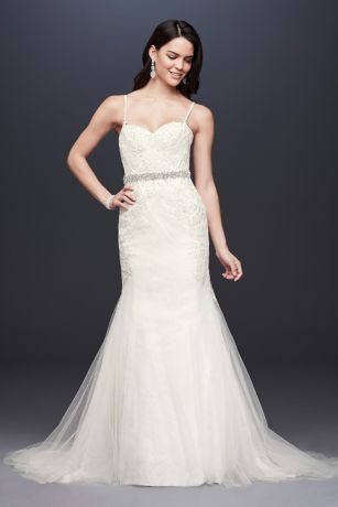 spaghetti strap mermaid gown with corset bodice in 2020