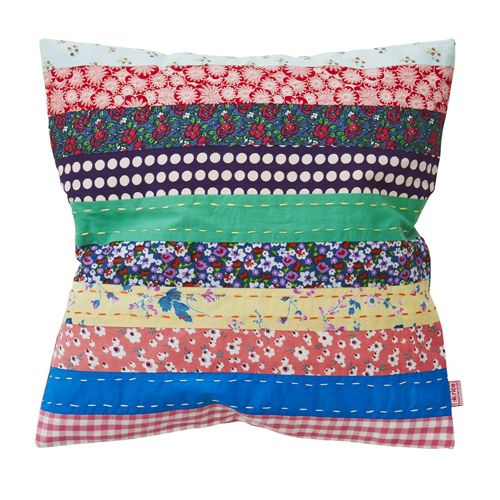 striped patchwork cushion cover - from rice dk