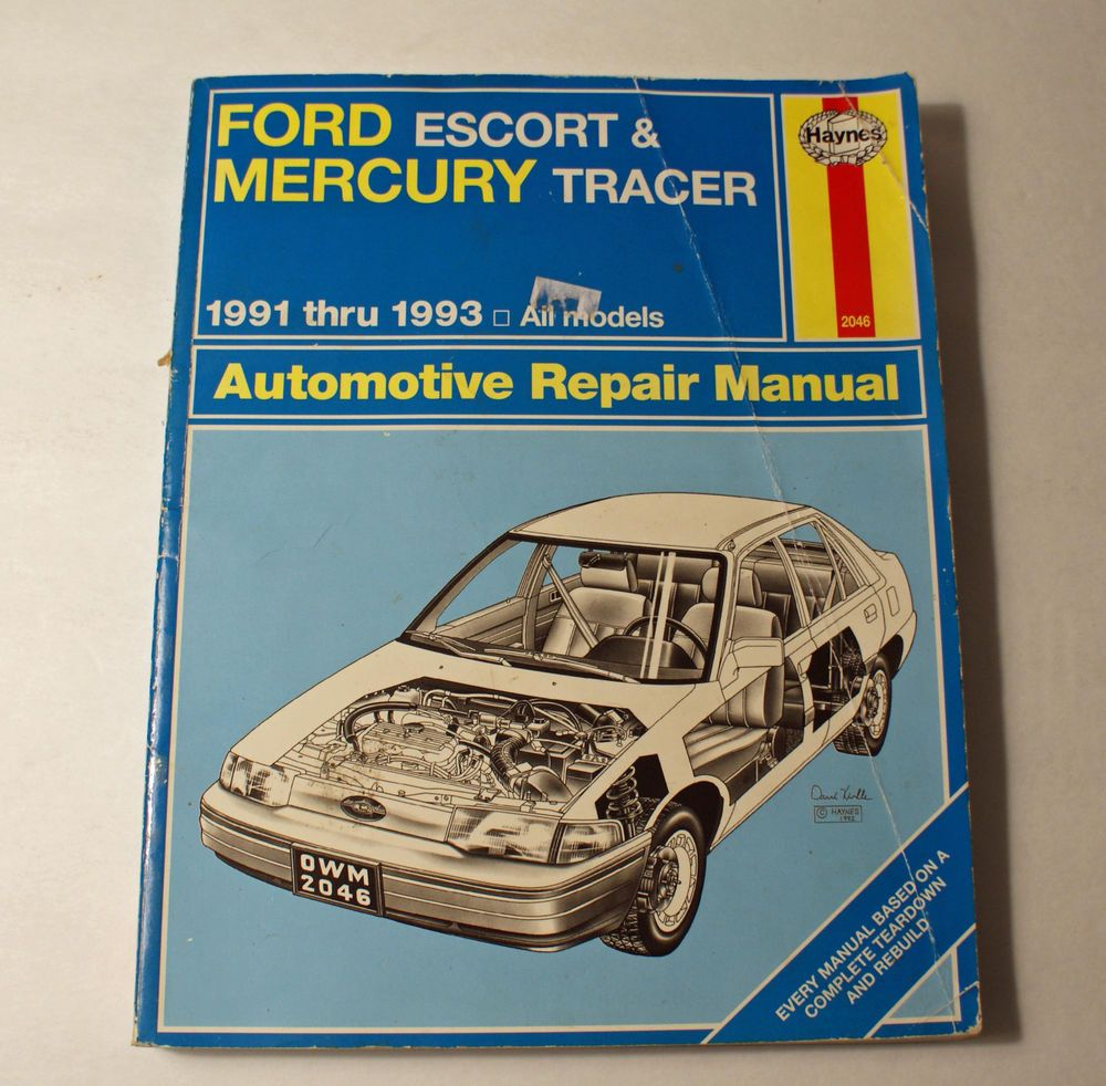 Ford Escort Mercury Tracer 1991 1992 1993 Haynes Repair Manual #2046