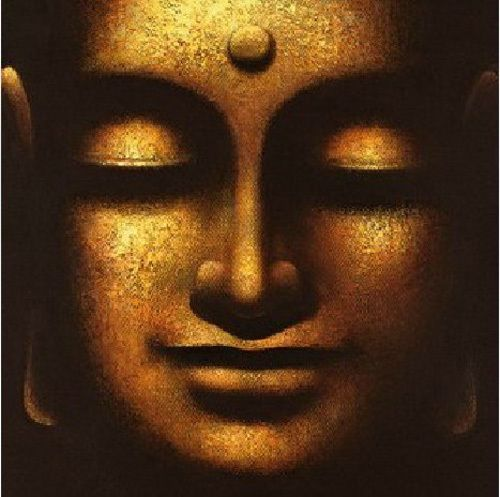 large canvas no frame modern abstract oil paintingbuddha face wall art decor in