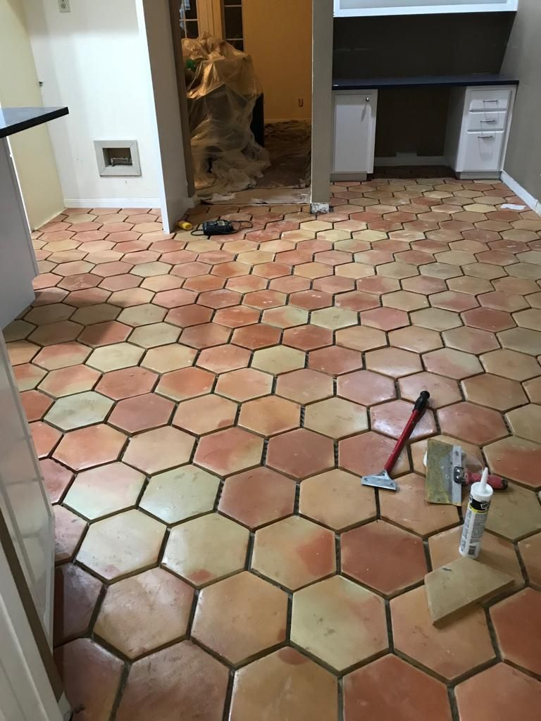 Reasons We Love The Hexagon Tile Patterns Honeycomb Floor Pattern Tile Floor Saltillo Tile Flooring