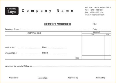 Payment Receipt Voucher Printing Services In Dubai Printing Services In Dubai Voucher Sample Voucher Receipt Template