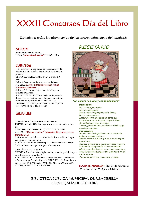 Bases De Los Xxxii Concursos Del Dia Del Libro Concurso De Dibujo Cuentos Y Murales Concurso De Dibujo Centro Educativo Murales