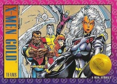 Equipo Dorado Bishop Coloso Arcangel Jean Grey Y Tormenta Marvel Cards X Men Comics