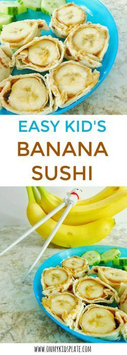 Banana Sushi- A Super Easy Kid's Snack images