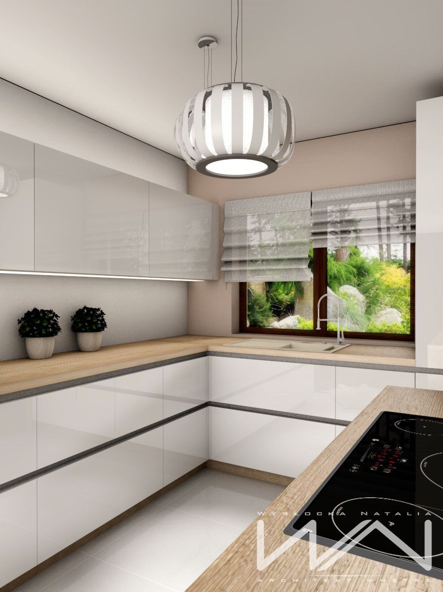 The bright kitchen in the suburbs of Gdynia -Bojano