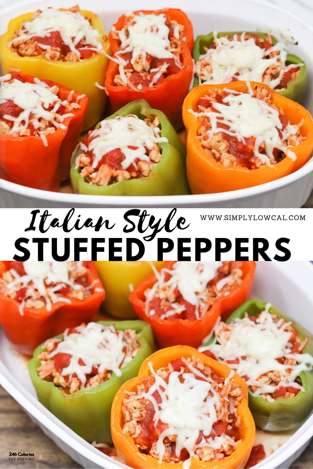 Italian Style Stuffed Peppers Recipe In 2020 Stuffed Peppers Recipes Dinner