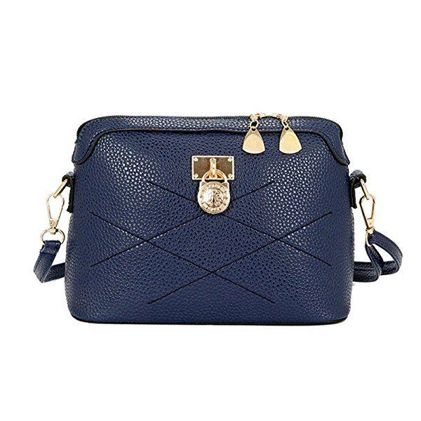 72848106d Bolsos De Hombro Bandolera De Piel Bolsa De Mano De Moda Para Mujer por  ESAILQ (Azul): Amazon.es: Zapatos y complementos
