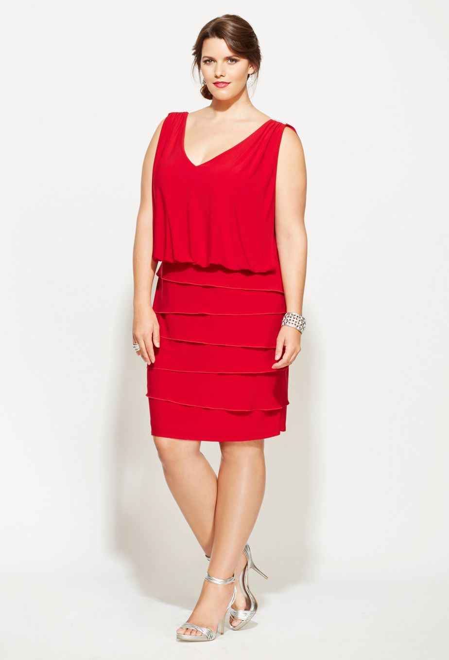 Plus Size Draped Back Dress | Plus Size Party Dresses ...