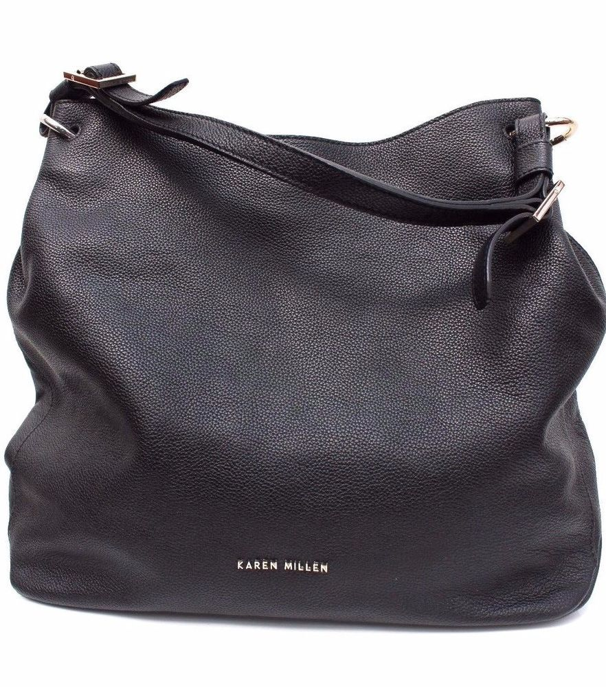 1032c97bf6 Karen Millen Gz031 Black Soft Grain Leather Tote Shoulder Sling Shopper  Hand Bag #KarenMillen #ShoulderBagsBucketBagCrossbodyTote