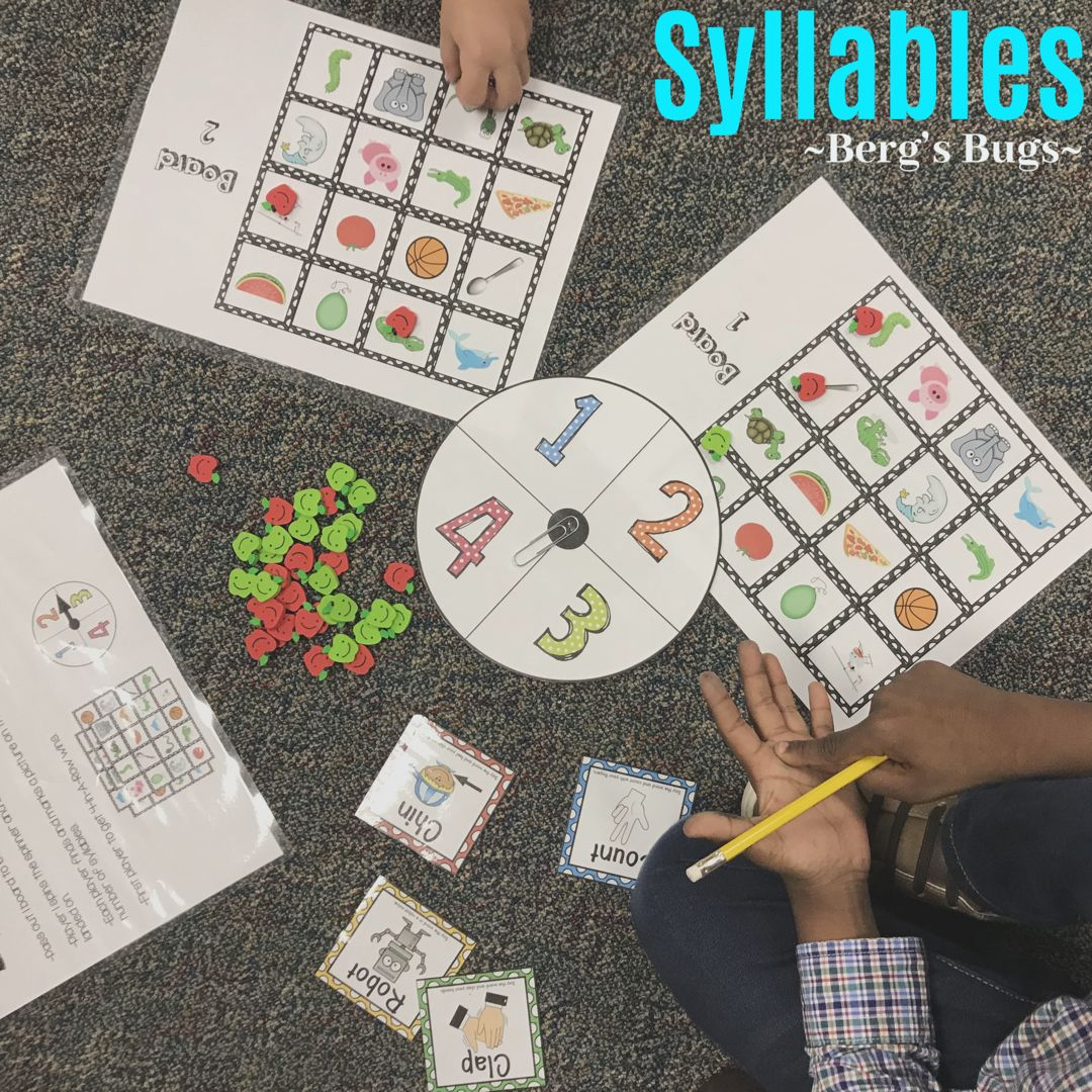 Syllables Worksheets Games