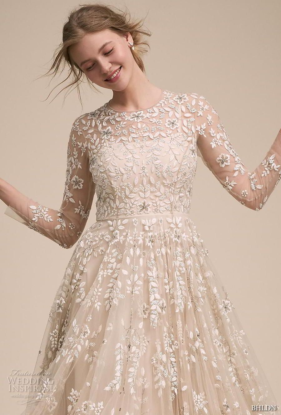 Effortless style with bhldnus own wedding dress collection wedding