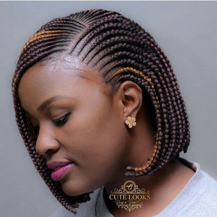 African Inspired Cornrows And Braid Style With Burned Ends