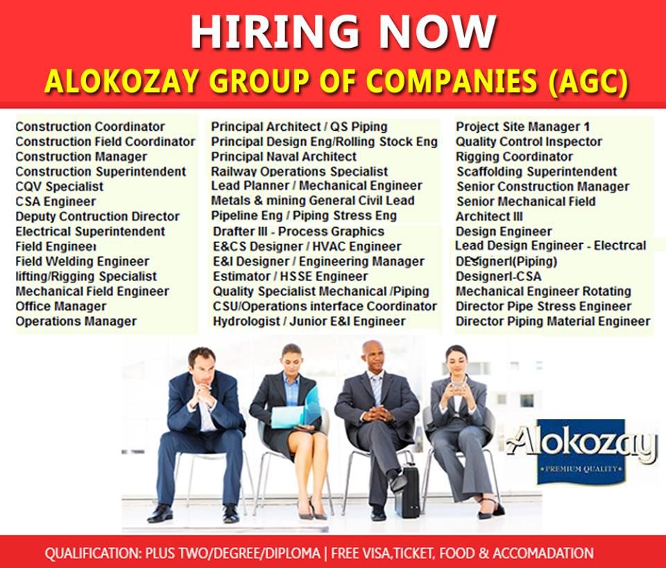 Financial Jobs ALOKOZAY GROUP OF COMPANIES Group of