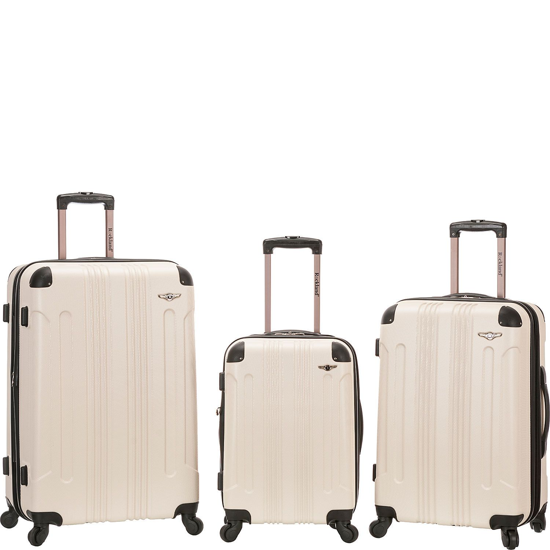 5c2e788a1 Rockland Luggage Sonic 3 Piece Hardside Spinner Set - eBags.com
