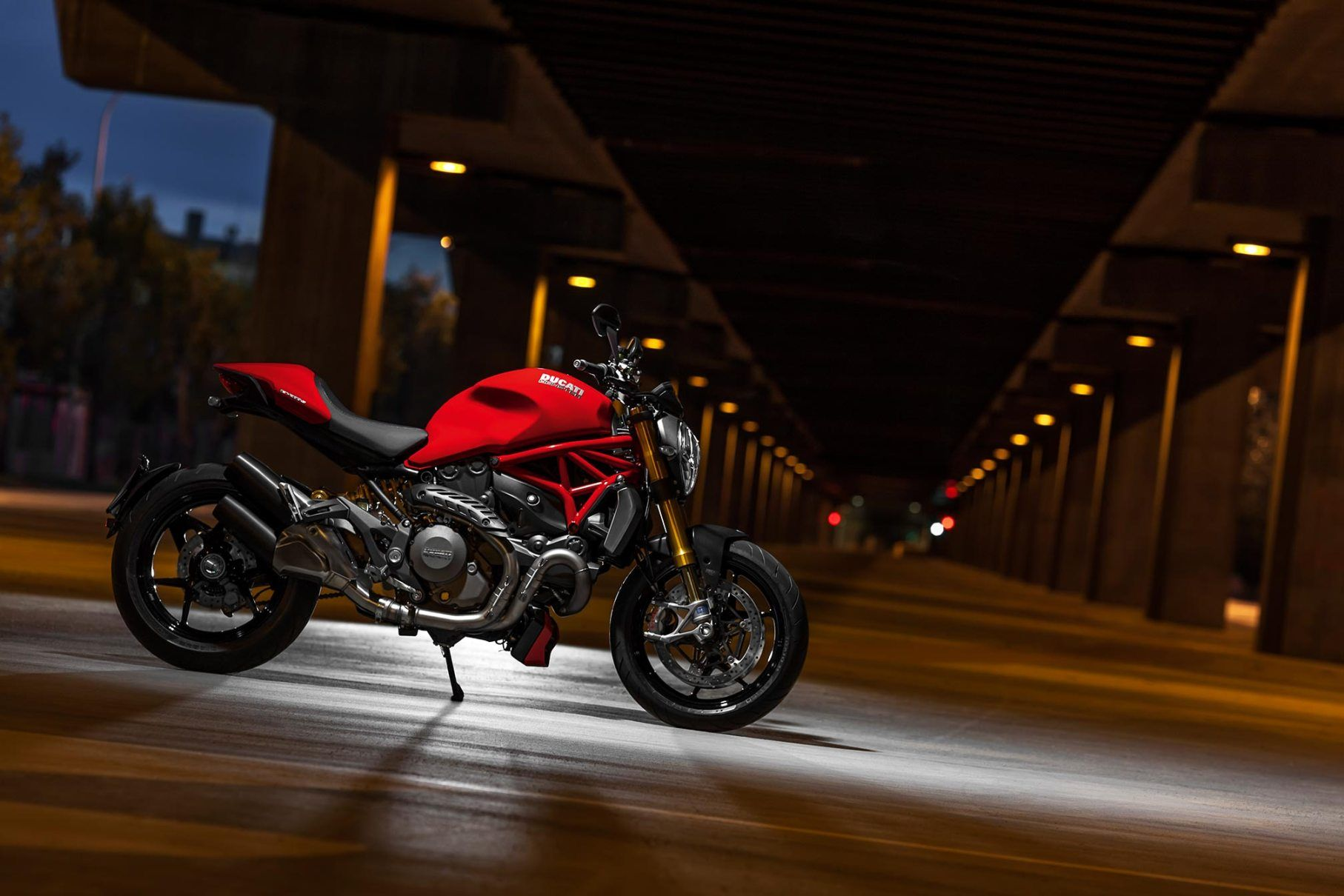 Ducati Monster S Night Moto HD Wallpaper Motorcycles HD