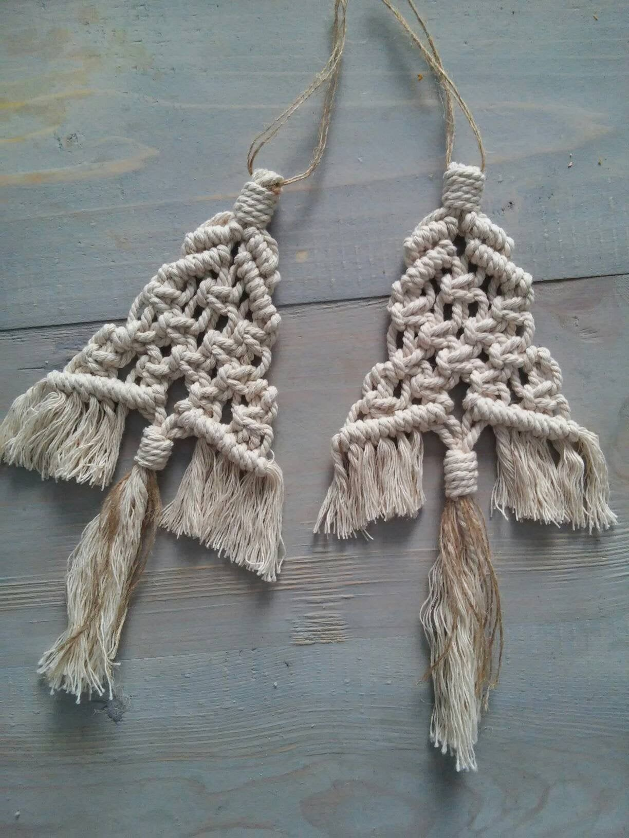 Macrame tree (set of 2), Wall hanging, Home decoration