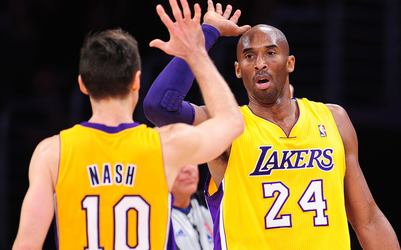Kobe Bryant And Steve Nash Oldest NBA Back Court In History. At ...