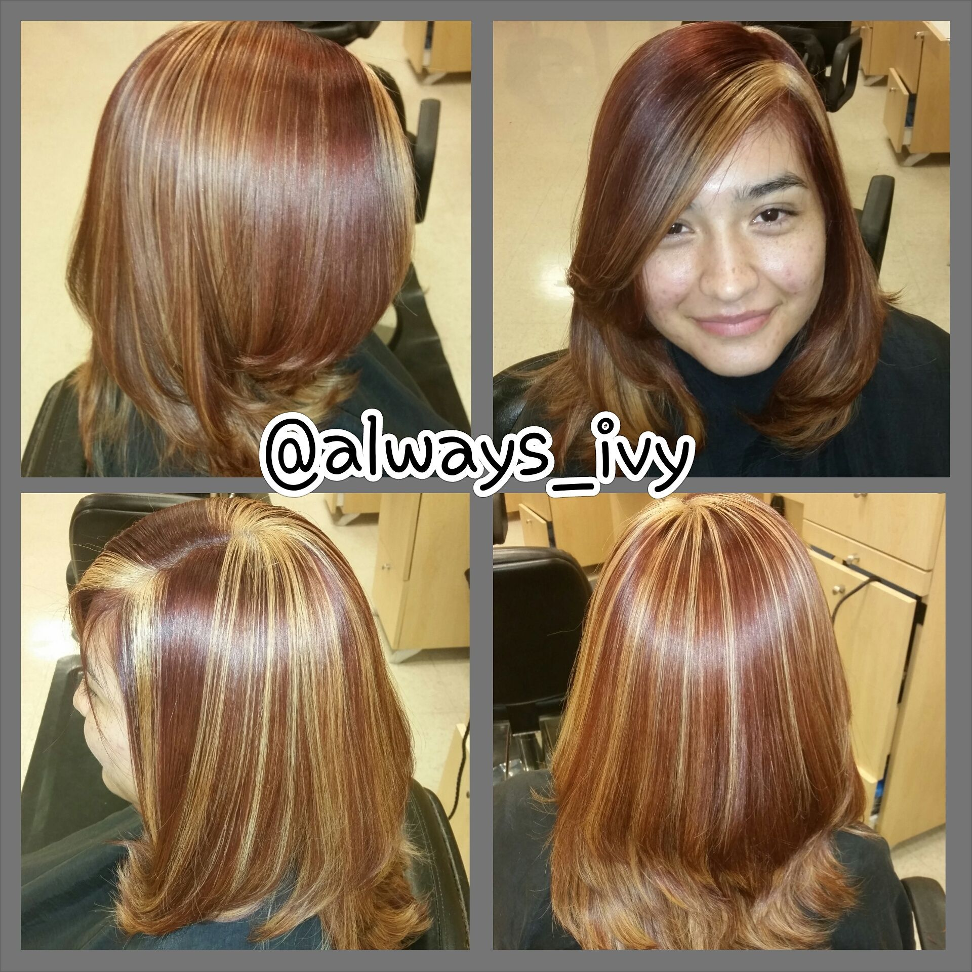 Caramelization red blonde and copper