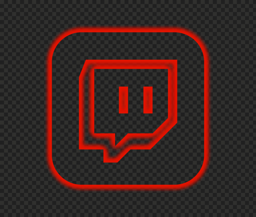 Hd Neon App Twitch Red Square Icon Png In 2021 Icon Twitch Neon