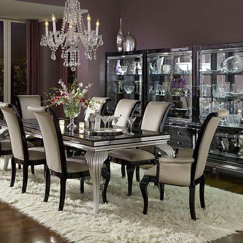 Hollywood Swank SN   Black And Silver   Dining Room Set U2013 Marlo Furniture
