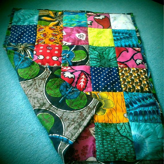 Handmade Patchwork African Fabric Baby Quilts | African fabric ... : fabric for baby quilts - Adamdwight.com