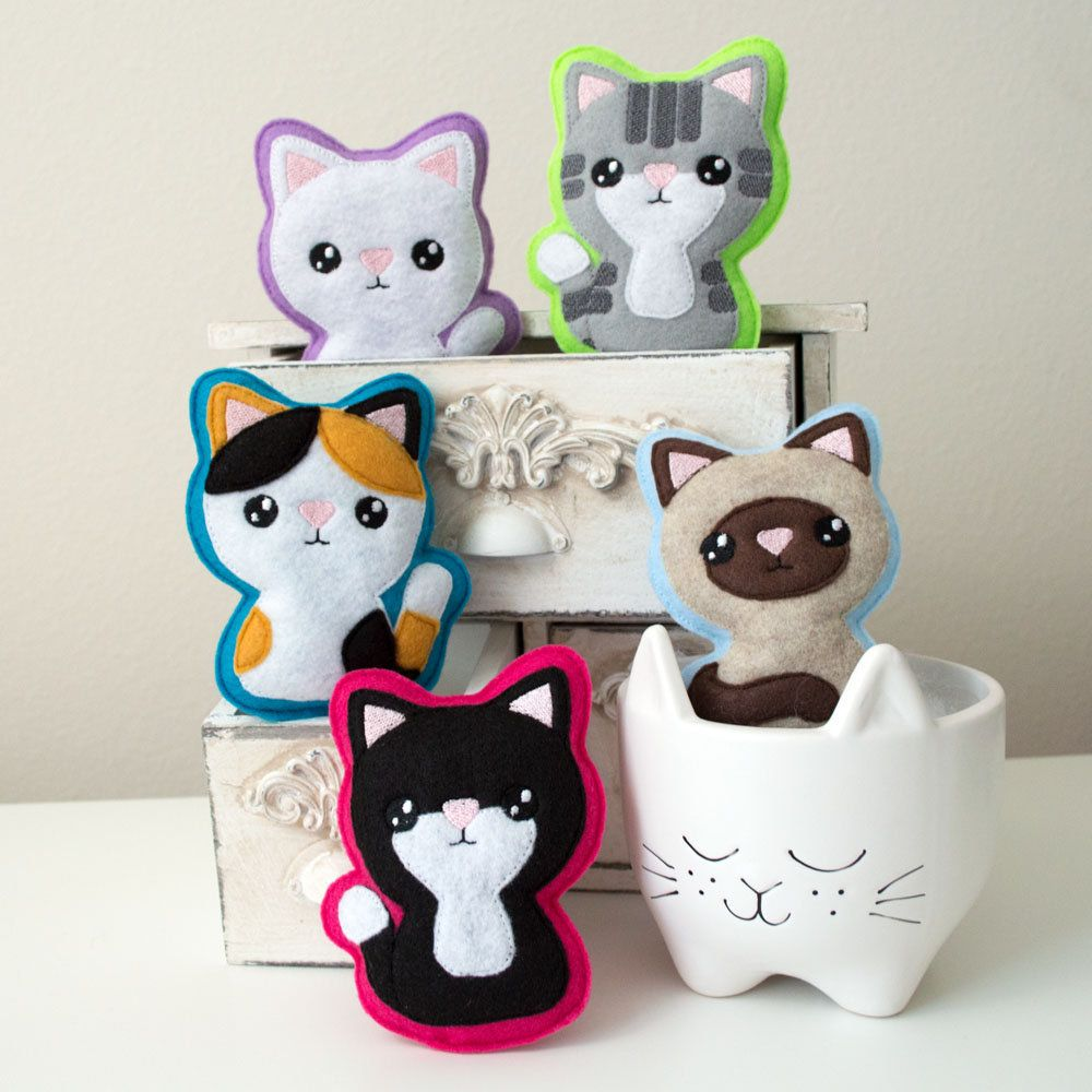 Felt Plush Kitty Kawaii Kitty Cat Toy by