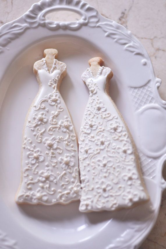 10 Bridal Gown Cookies-Lace Wedding Dress by MarinoldCakes ...
