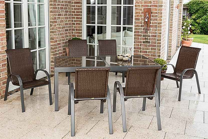 Merxx Gartenmobelset Cote D Azur 7 Tlg 6 Sessel Tisch