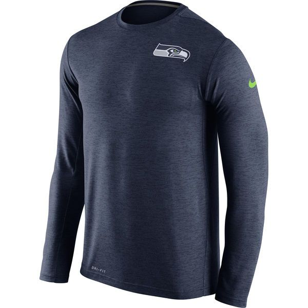 Seattle Seahawks Nike Dri-FIT Touch Long Sleeve Performance T-Shirt - Navy - $49.99
