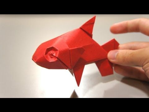 How To Make Origami Fish Koi Sipho Mabona Youtube A Little