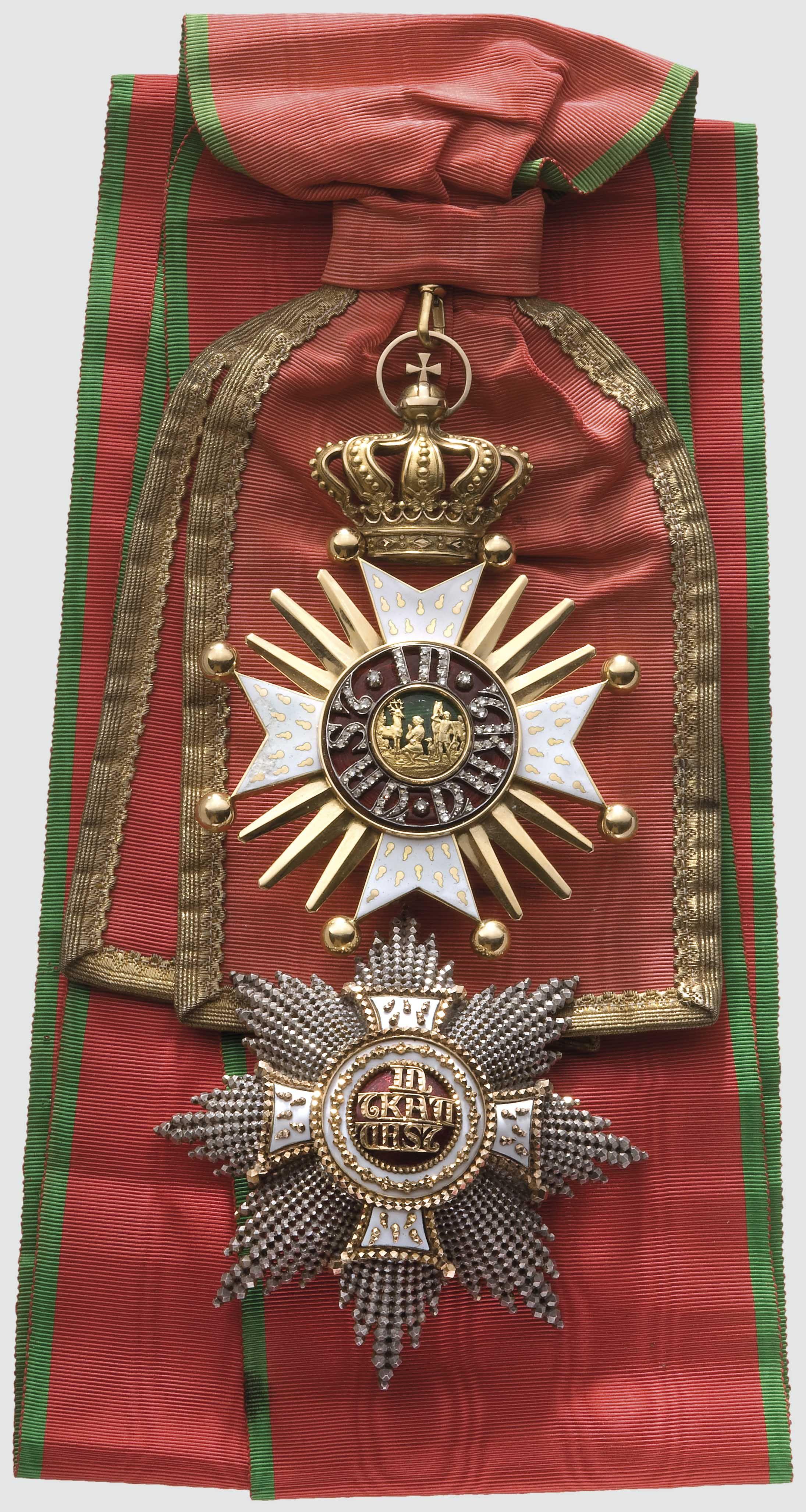 Order Of St Hubertus A Grand Cross Set For Peers Of Royal Houses Bestowed In 1908 On Grand Duke Joseph Ferdinand Military Decorations Military Medals Badge