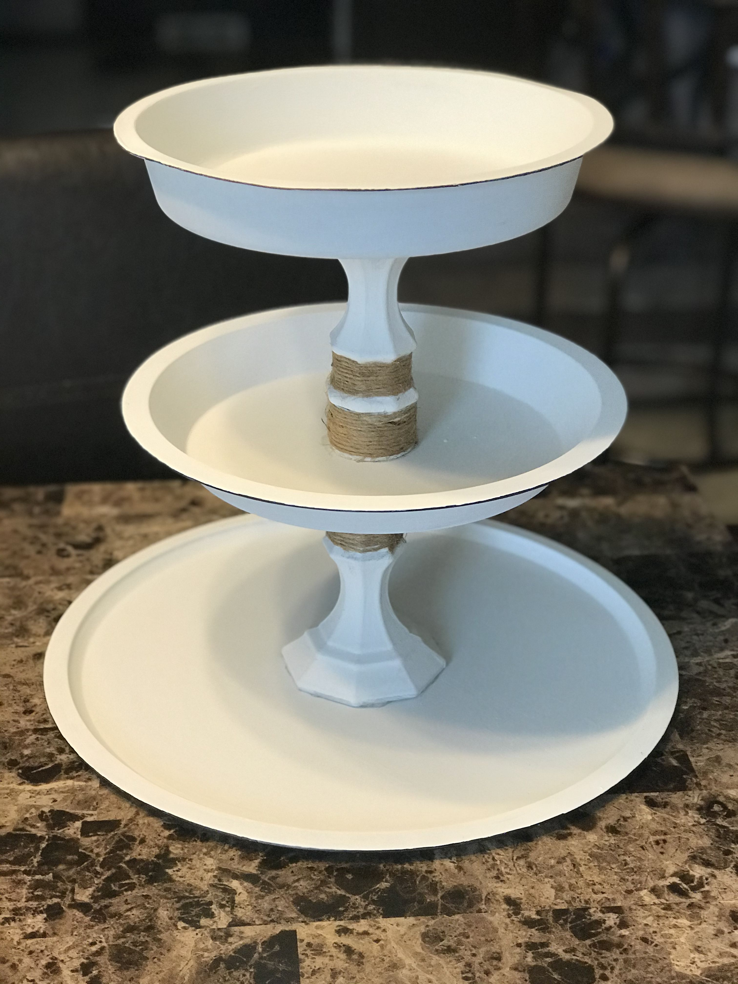 Dollar Tree Tiered Tray DIY