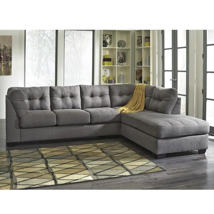 Maier 2 Piece Right Arm Facing Chaise Sectional in Charcoal