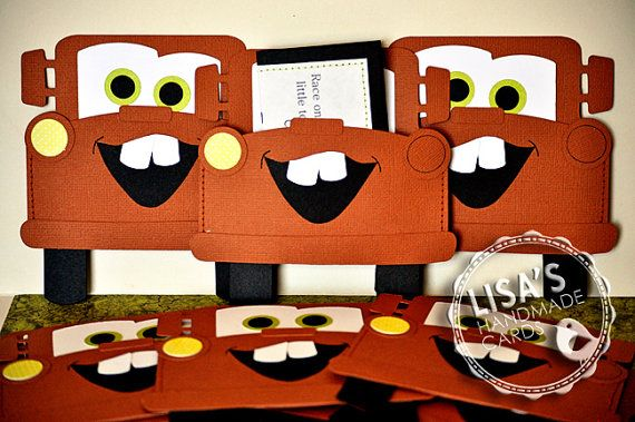 RESERVED for Shannon Custom Mater Cars Birthday Invitations