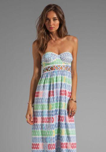 Casual bustier maxi dress