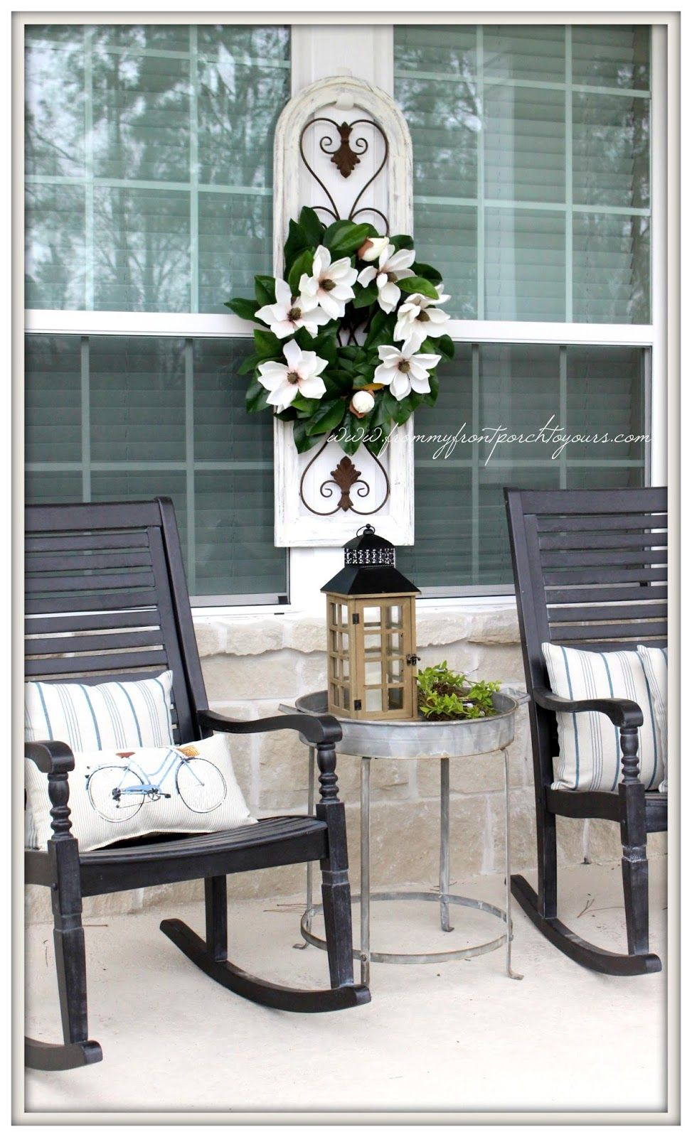 Early Spring Farmhouse Front Porch