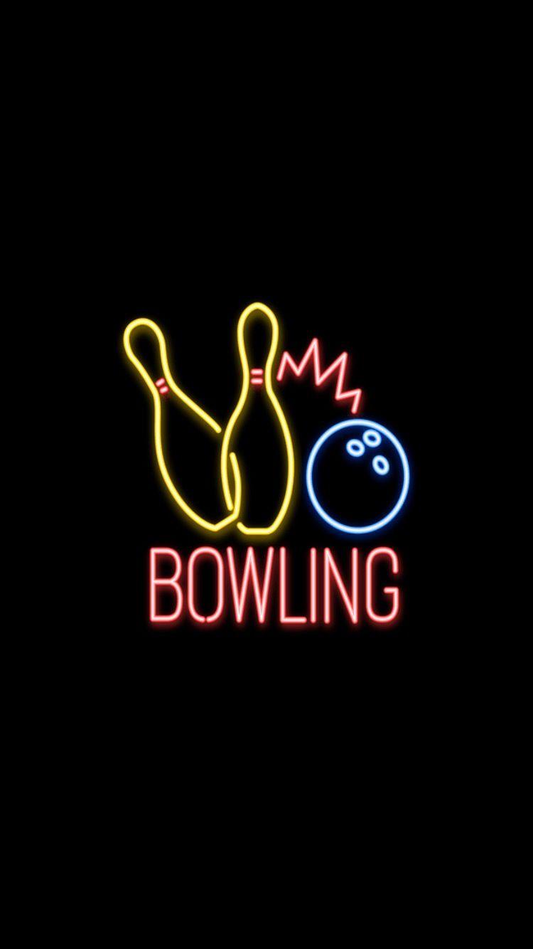 Neon Neonlights Bowling Wallpaper Neonwallpaper Aesthetic Neon Wallpaper Bowling Neon Signs
